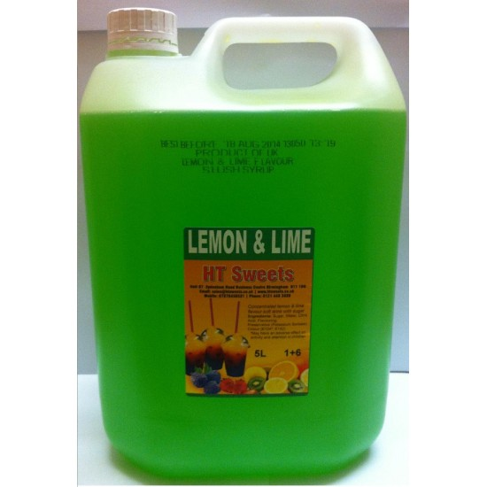Lemon & Lime Slush Syrup 1x5 Litre