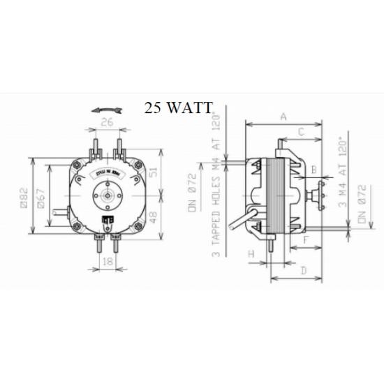 ELCO NET5T25PVN001, 25WATT