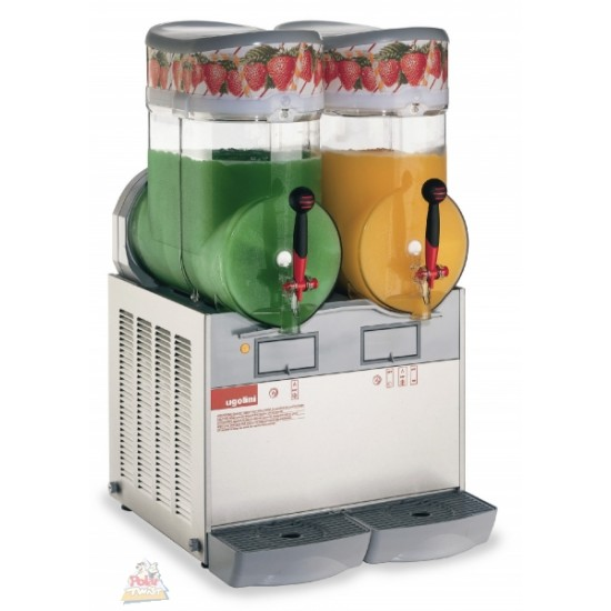 Ugolini GIANT slush machine 2x15ltr + STOCK,Delivery: 1 to 2 working days,free uk mainland delivery