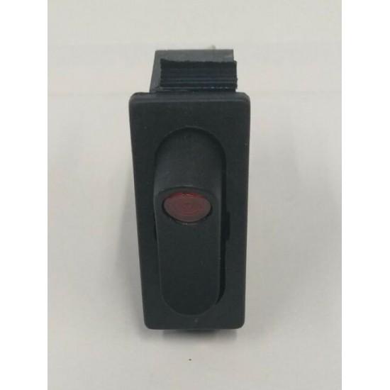 BLACK SINGLE-POLE SWITCH 16A 250V