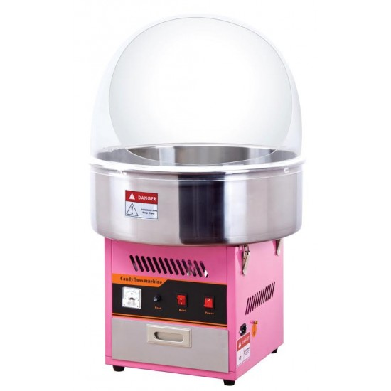 Candyfloss machine with metal bowl + bowl cover ET-MF01