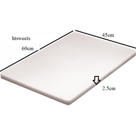 LARGE EXTRA Thick Professional Catering,Chopping Board 12x23.6 inches / 60x45cmx2.5cm,(1xChopping Board White only)