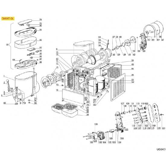 Dispenser tap piston part number: 4,  22800-14802, U003
