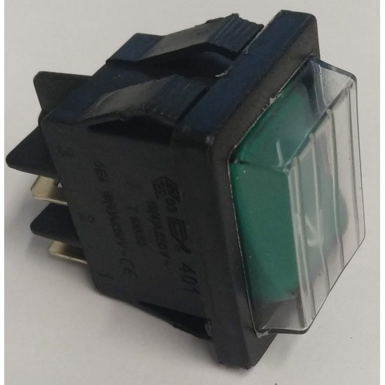 PIZZA GROUP,BIPOLAR SWITCH GREEN 16A 250V,3319464,5320020