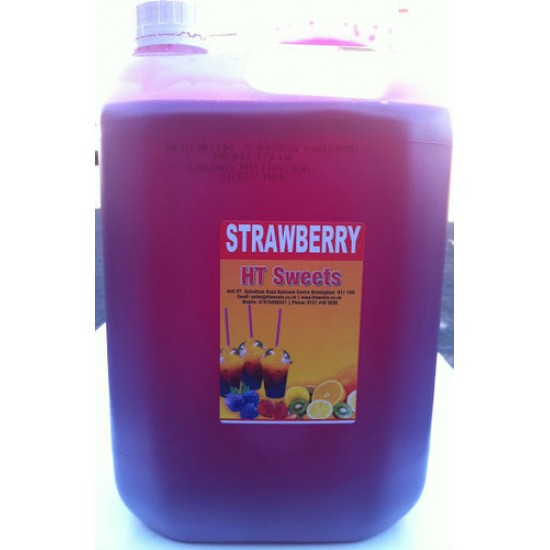 Strawberry Slush Syrup, 1x5 Litre