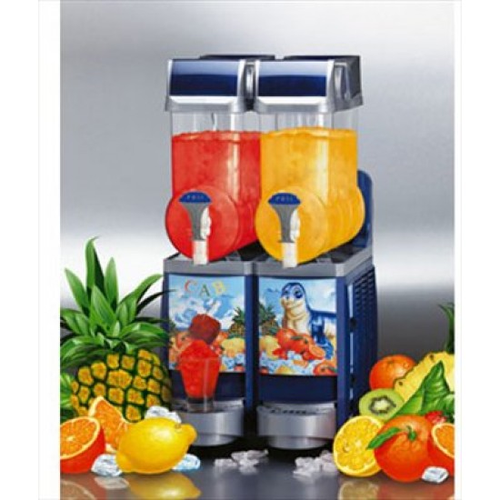 Faby Cabspa slush machine BLUE 2x10litre with stock ,PKG 1