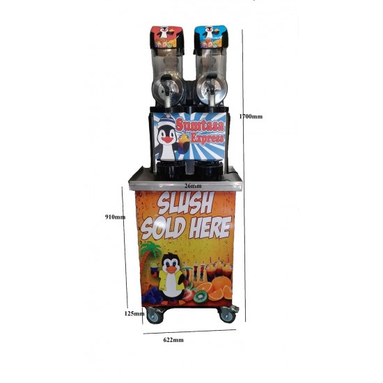 SUMTASA Express Slush drinks machine 2x10ltr EXPRESS ,FAST FREEZE with stock+Table
