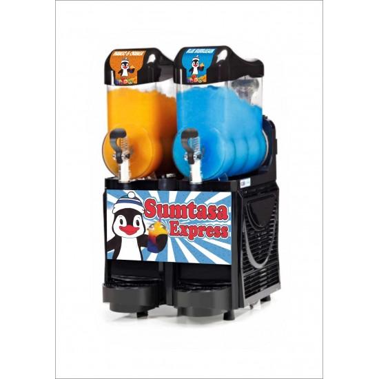 SUMTASA Express Slush drinks machine 2x10ltr EXPRESS ,FAST FREEZE with stock