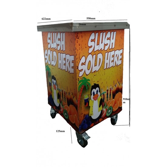 Sumtasa Delight slush machine 3x12Ltr with stock+TABLE
