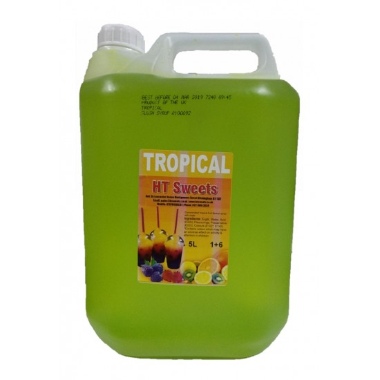 Tropical Slush Syrup, 1x5 Litre